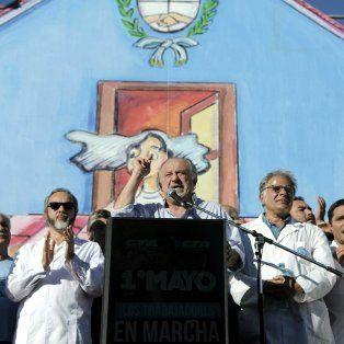 El líder de la CTA Argentina, Hugo Yasky, volvíó a reclamar un paro general.