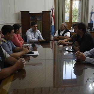 La reunión tuvo lugar esta tarde en la sede de la Gobernación de Santa Fe en Rosario.