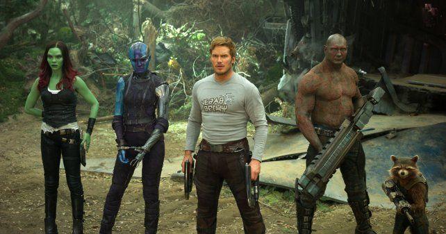Los inadaptados espaciales. El rubio Chris Pratt (en el centro) retoma su rol como protagonista.