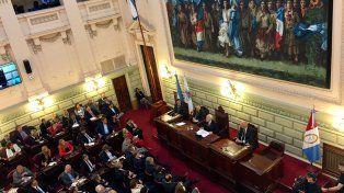 El gobernador dio su discurso en un colmado recinto de Diputados.
