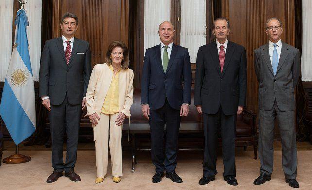 Los integrantes de la Corte Suprema de Justicia de la Nación.