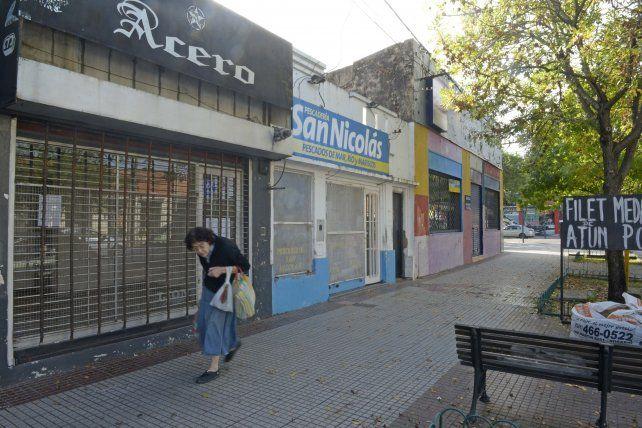 Ayacucho y Arijón. Varios comercios debieron cerrar sus puertas por la suba de los alquileres.