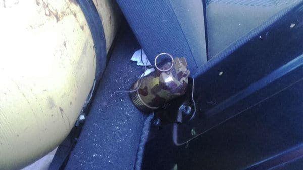La imagen de la granada que fue secuestrada por la policía.