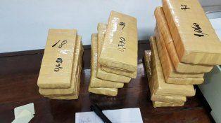 La droga fue hallada en un bolso proveniente de Madrid.