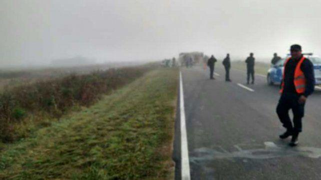 Niebla. El accidente se produjo en una zona de visibilidad reducida.