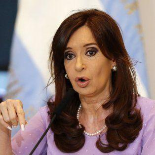 La expresidenta de la Nación, Cristina Fernández de Kirchner.