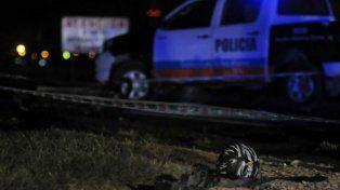Casco. Foto del lugar del accidente tomada por la policía.
