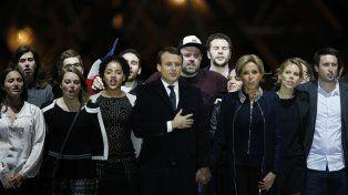 Emoción. Macron