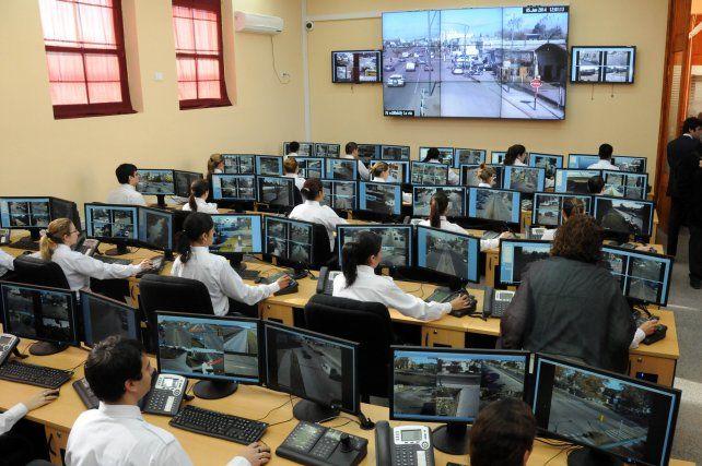 El centro de monitoreo de las cámaras de seguridad