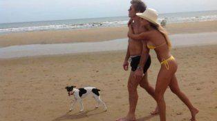 Otros tiempos. La pareja durante una de sus vacaciones.