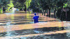 Desastres ambientales. Las inundaciones jaquean varios lugares.
