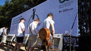 La orina fue recogida de urinales especiales en el festival de Roskilde