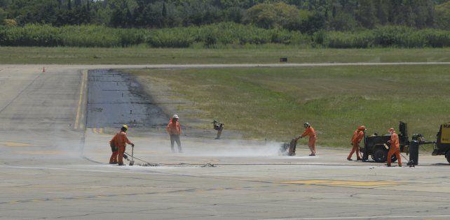 El aeropuerto estará cerrado por tareas de mantenimiento de las calles de rodaje y plataformas.