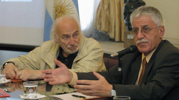 Junto al actor Héctor Alterio. Tedesco fue un formador de formadores.
