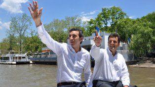 Randazzo y Massa durante un paseo por El Tigre.