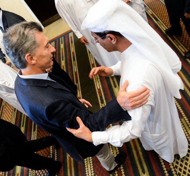 Macri con el ministro de Relaciones Exteriores y Cooperación Internacional de Emiratos Arabes