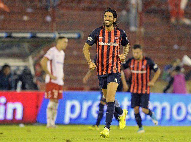 Marcos Angeleri convirtió el único gol en el ajustado triunfo de San Lorenzo sobre Huracán.