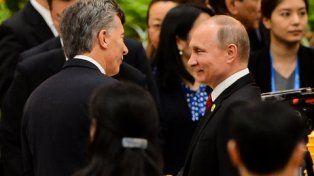 saludo. Mauricio Macri compartió una cena y una gala con su par ruso