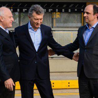 Imagen de archivo. El gobernador Miguel Lifschitz, el presidente Mauricio Macri y el intendente José Corral.