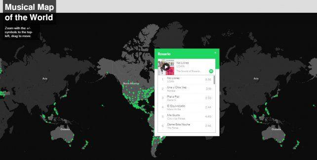 Top Five: Las cinco canciones más escuchadas por los rosarinos en Spotify