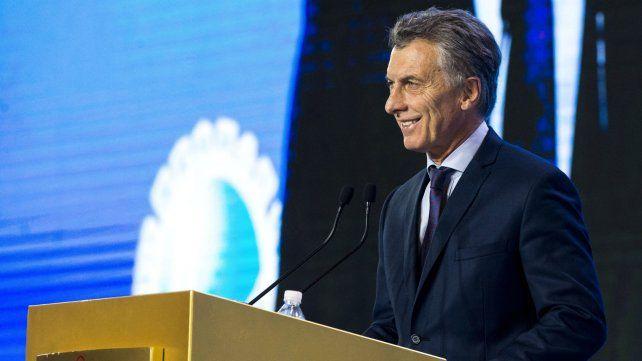 Macri habló ante empresarios en China.