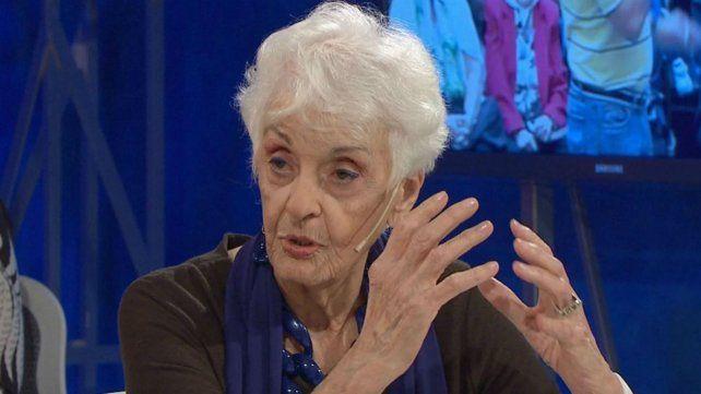Fernández Meijide dijo que los temas de derechos humanos no necesitan a Hebe de Bonafini