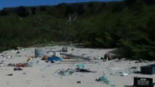 Encuentran una isla paradisíaca en el Pacífico repleta de plástico y desechos