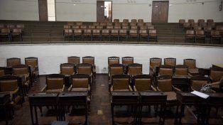 El recinto de sesiones del Palacio Vasallo. Los concejales discuten ahora en las comisiones.