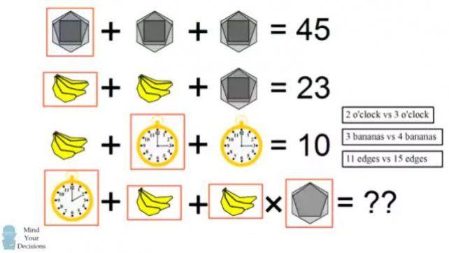 Se volvió viral un test matemático que parece fácil pero cuesta resolverlo bien