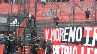 Los incidentes en el Coloso se desataron al finalizar el partido.