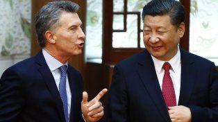 El presidenteMauricio Macridialoga con su par chino Xi Jinping.