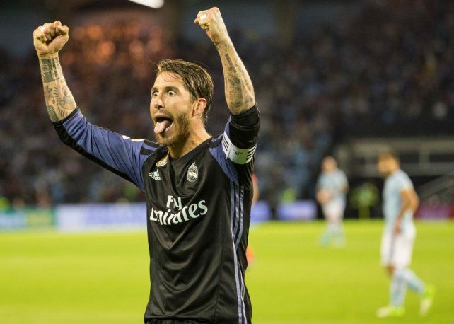 Medio título. Sergio Ramos celebra en la victoria del Real Madrid.