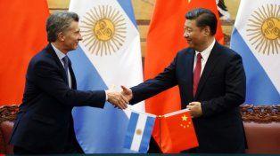 banderas. Mauricio Macri y Xi Jinping Xi se reunieron en el Gran Palacio del Pueblo