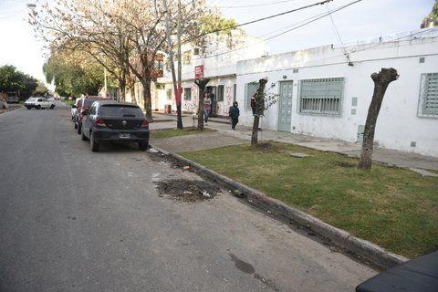 en la calle. Martín cayó sobre el pavimento de Balcarce al 3900