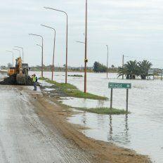 La localidad Melincué está en situación de alerta por la crecida de la laguna.