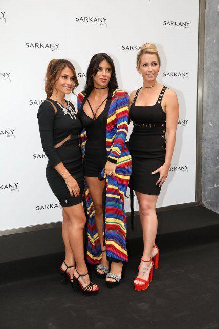 Antonella Roccuzzo y Sofía Balbi reciben a Daniella Semaan