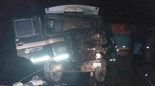 Un muerto en un múltiple choque de camiones en la ruta 18 cerca de Coronel Domínguez
