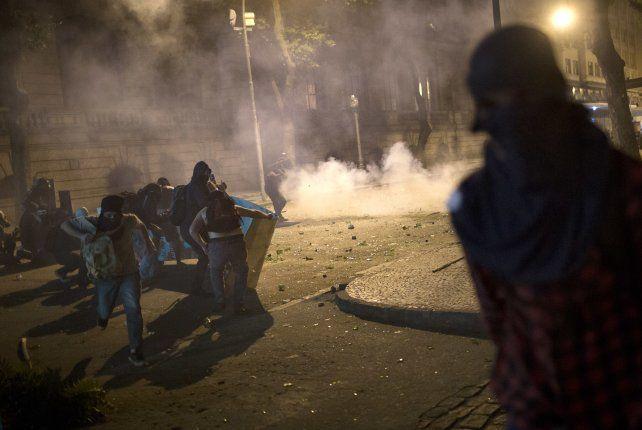 En el centro de Río de Janeiro hubo choques entre manifestantes y la Policía.
