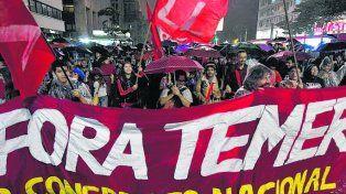 Malestar. En San Pablo las manifestaciones comenzaron el miércoles.