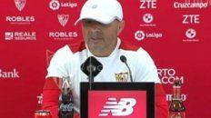 Sampaoli dirige el sábado el último partido de Sevilla que será ante Osasuna.