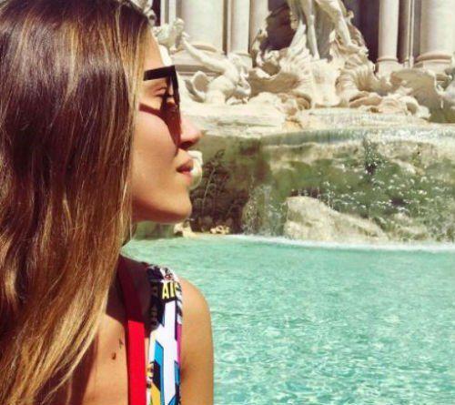 Jimena Barón viajó a Italia para seguir de cerca a Del Potro en el torneo de Roma