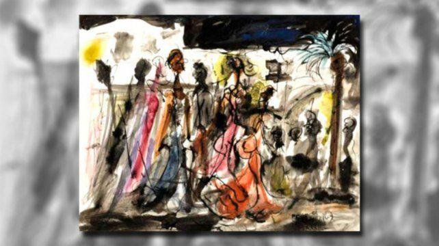 Obra. El trabajo anticipó el expresionismo que desplegó el artista.