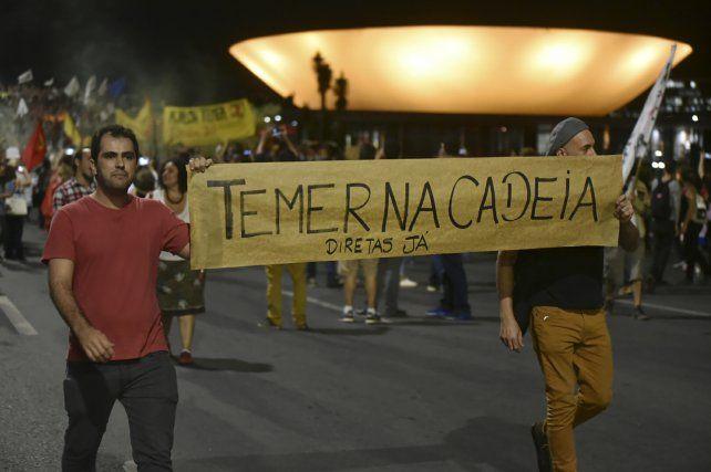 Malestar. Los manifestantes piden la dimisión de Temer