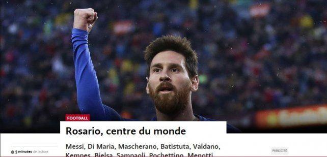 En Ginebra. La nota que elogia a Rosario como cuna de buen fútbol fue la portada de Le Temps.