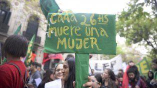 Una de las marchas en contra de la violencia de género que se hicieron en Rosario.