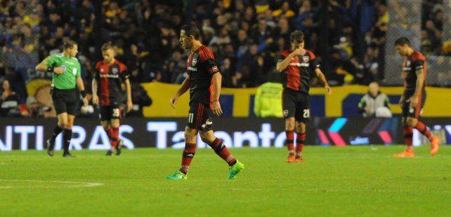 Newells perdió 1-0 ante Boca y quedó lejos de la lucha por el campeonato.