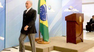 De salida. El presidente interino brasileño puede verse forzado a renunciar en cualquier momento.
