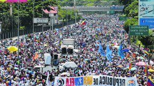 masiva. La jornada de protesta del sábado en Caracas fue contundente.
