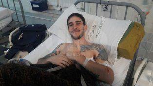 Emiliano se recupera en el Hospital Cullen de Santa Fe.
