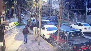 La imagen del momento en el que Gamarra es secuestrado.